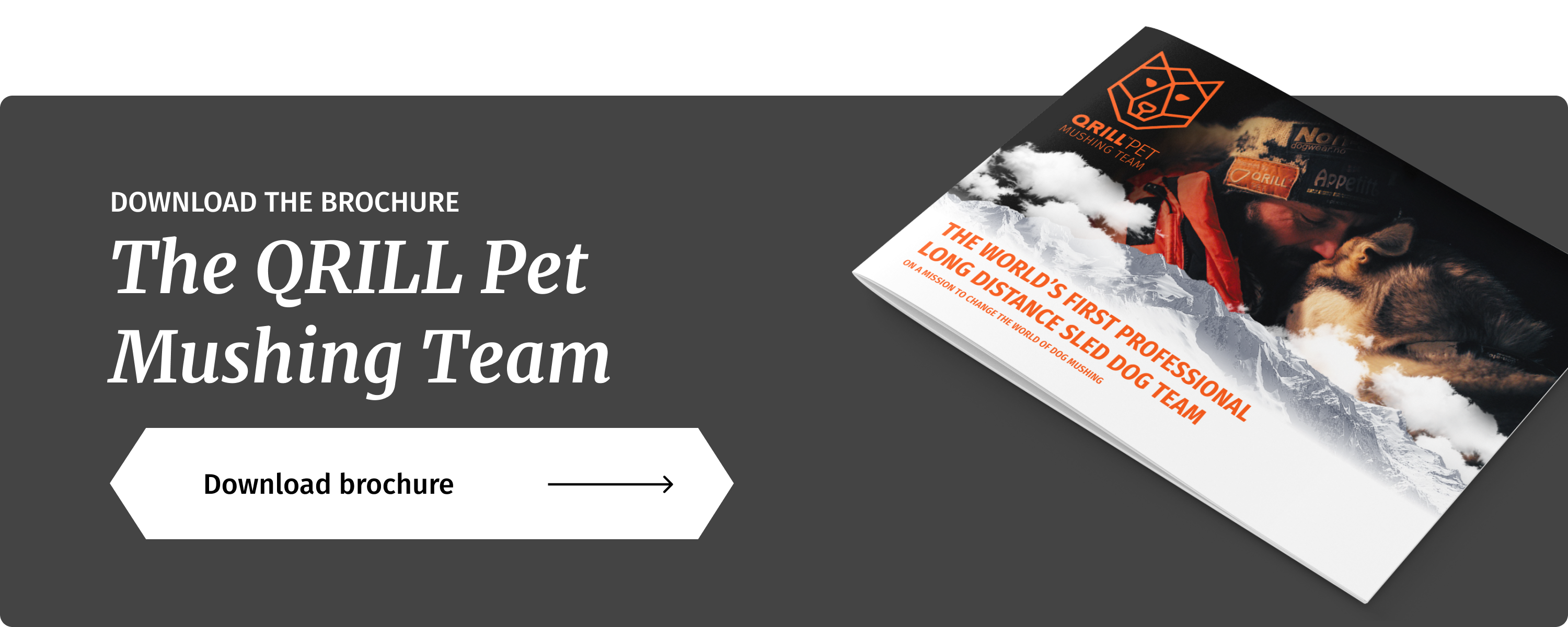 Qrill Pet Mushing Team Brochure