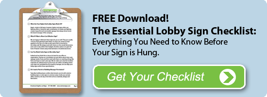 Lobby Sign Buying Guide Checklist