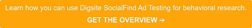 Learn how you can use Digsite SocialFind Ad Testing for behavioral research.  GET THE OVERVIEW➔