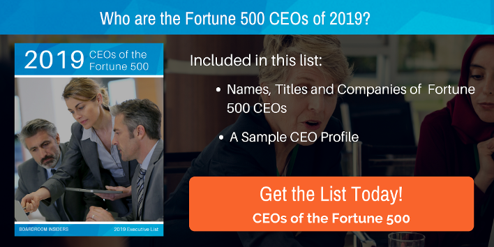 CEOs of the Fortune 500