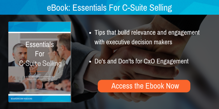 Essentials For C-Suite Selling