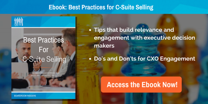 Free ebook for enterprise sales and marketing pros: Best Practices for C-suite selling