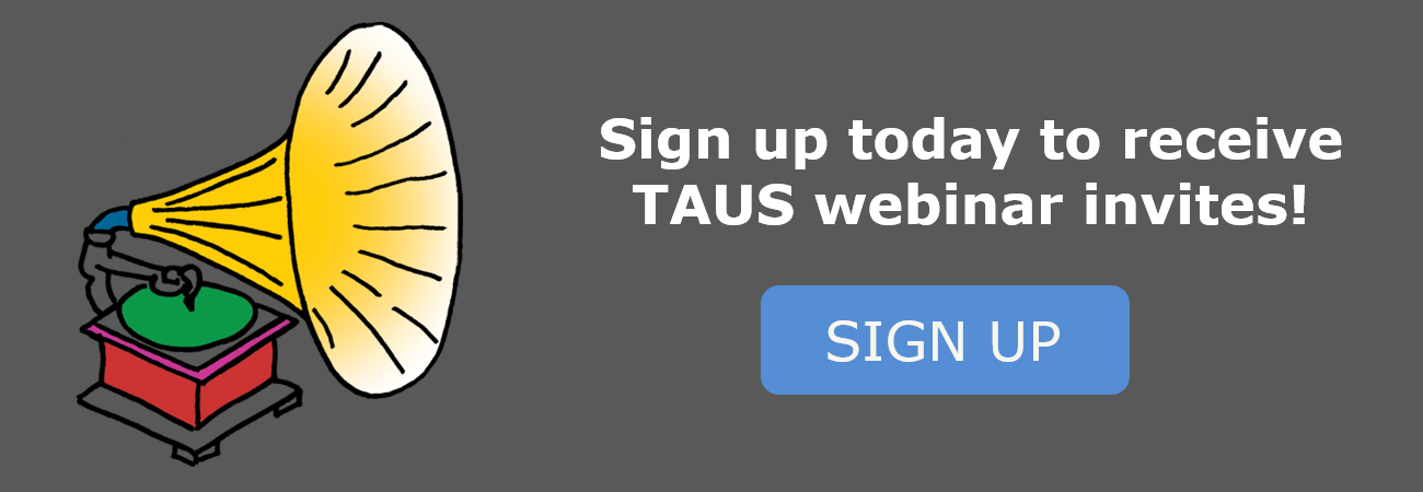 TAUS Webinar Sign Up
