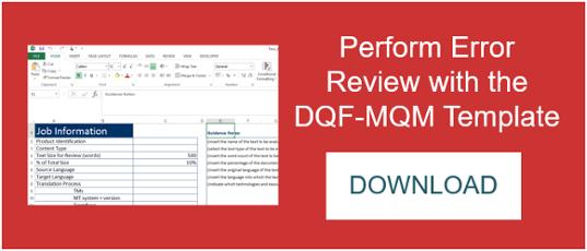 DQF-MQM Error Typology Template
