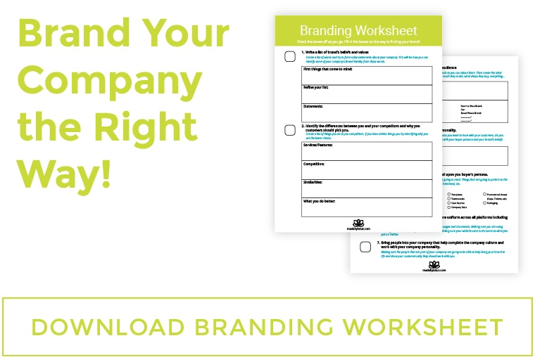 branding worksheet