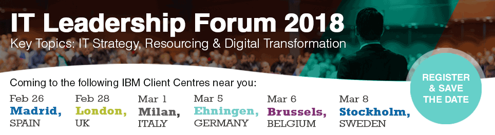 IT Leadership Forum 2018 - Key Topics: IT Strategy, Resourcing...