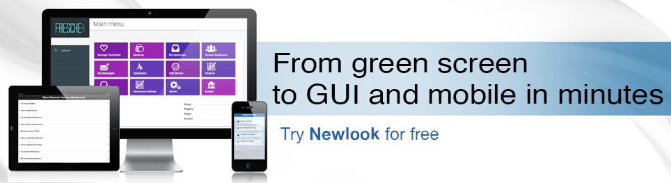 newlook developer free trial looksoftware fresche green screen GUI IBM i