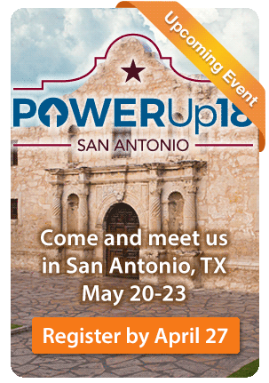 Come and meet us at PowerUp18 in San Antonio, TX