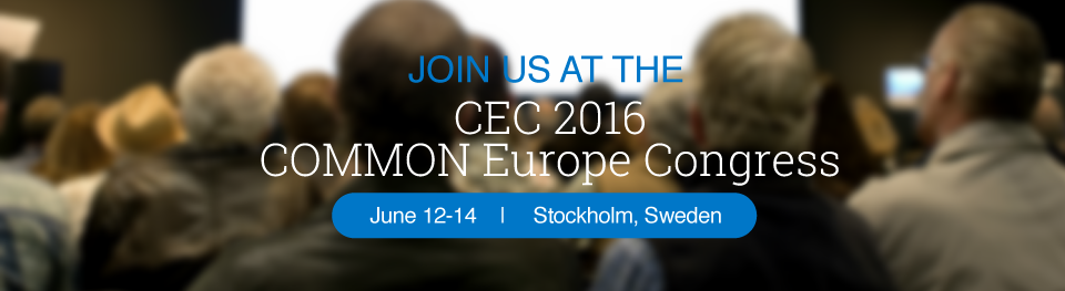 Join us at the 2016 COMMON Europe Congress, June 12-14 in Stockholm | IBM i