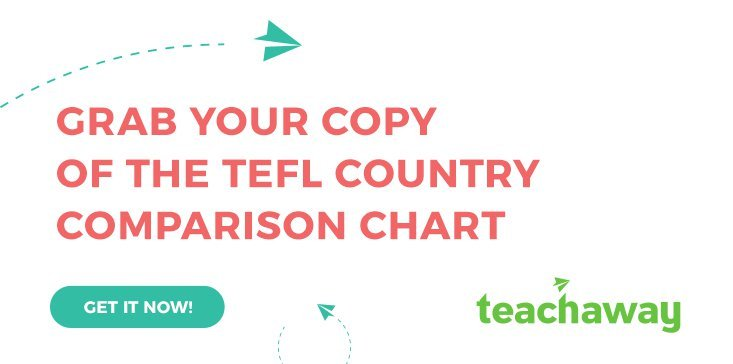 TEFL country comparison chart