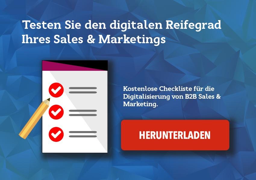 Checkliste Reifegrada Digitalisierung Sales und Marketing