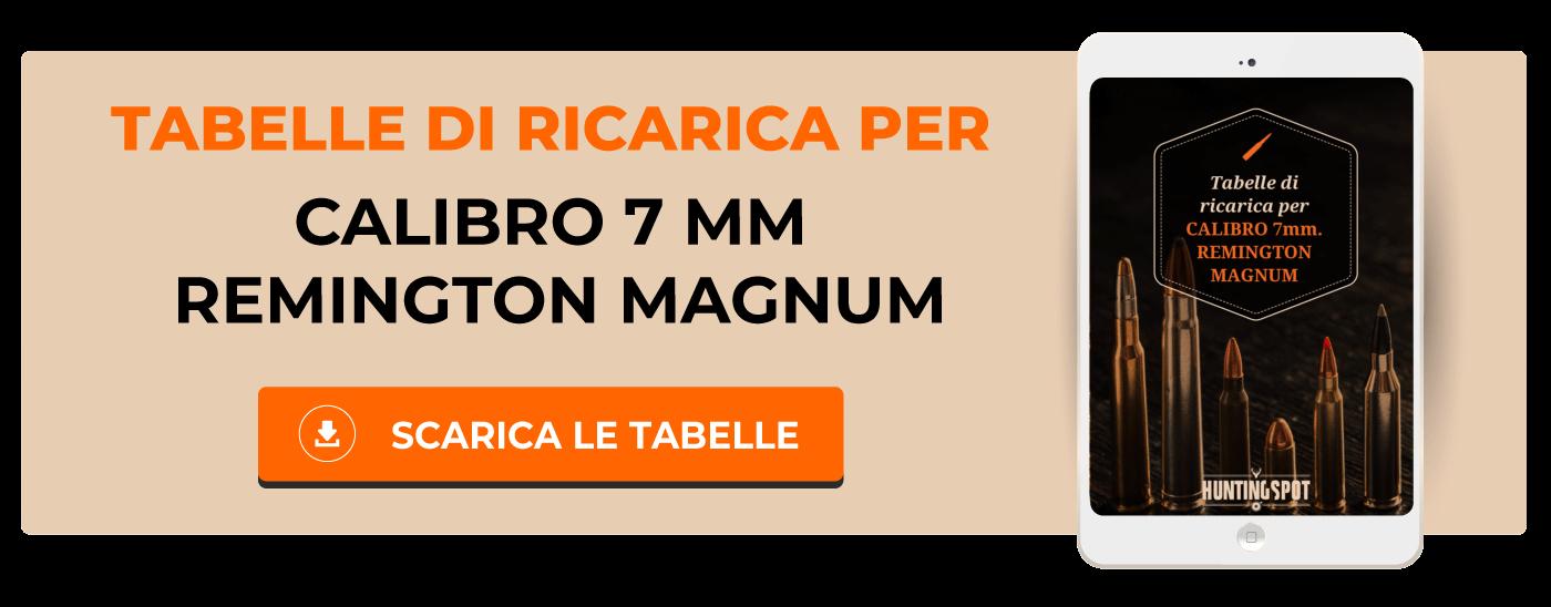 Tabelle di ricarica 7mm Remington Magnum