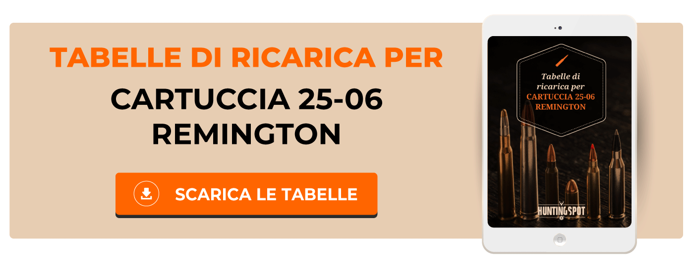 Tabelle di ricarica cartuccia 25-06 Remington