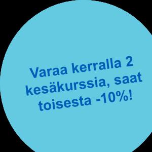 Varaa useampi kesäkurssi, saat jopa -15%!