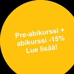 Pre-abikurssi + abikurssi -15% Lue lisää!