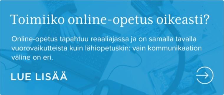 Toimiiko online-opetus oikeasti?