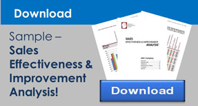 Download a sample of a Sales Effectiveness & Impact Analysis!