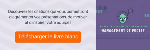 telecharger le livre blanc sur les citations du management de projet