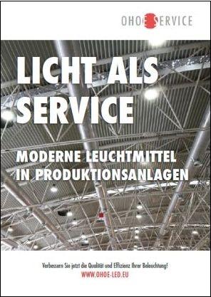 Moderne LED-Beleuchtung für Produktionsanlagen