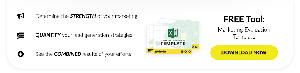 Featured Download - Marketing Evaluation Template