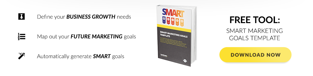 Featured Download - Smart Marketing Goals Template