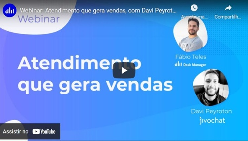 Webinar: Atendimento que gera vendas, com Davi Peyroton da JivoChat