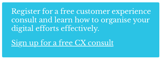 sign up for a free customer experience consult