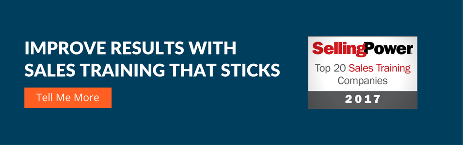 Improve results with sales training that sticks