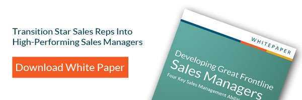 Learn how to transition star sales reps into high-performing sales managers
