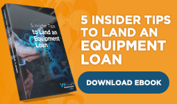 Can you get an equipment loan? - Westminster National Finance Brokers