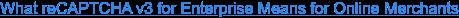 What reCAPTCHA v3 for Enterprise Means for Online Merchants