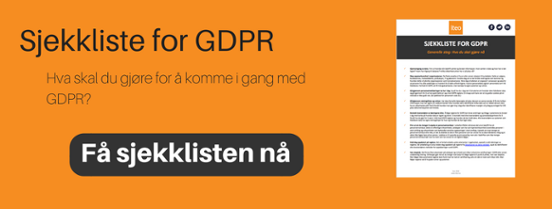 Sjekkliste for GDPR