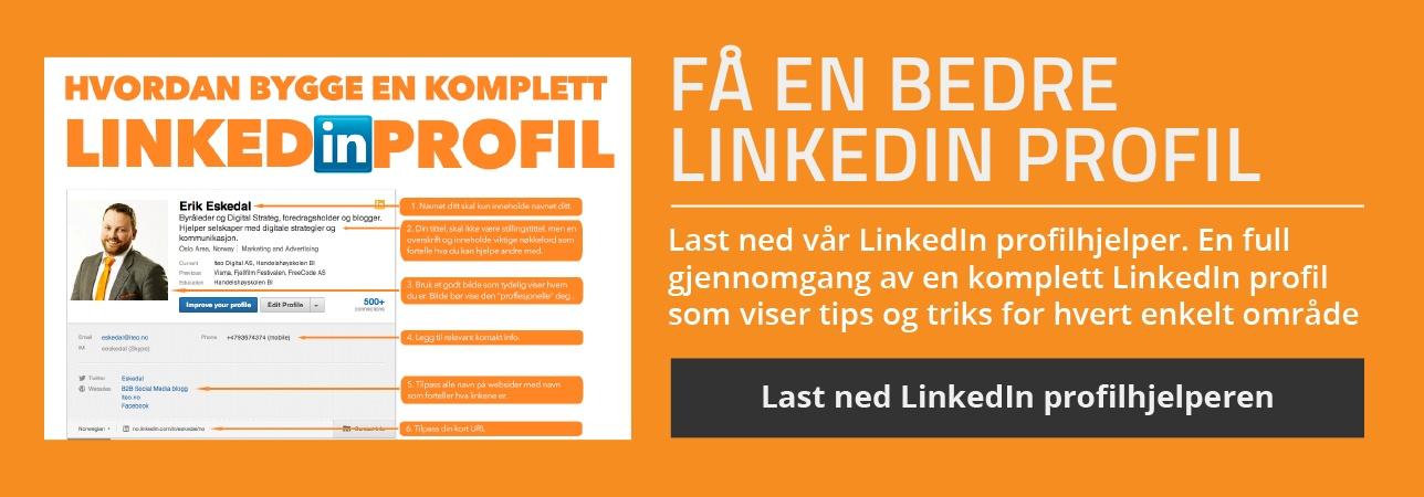 Få en bedre LinkedIn Profil