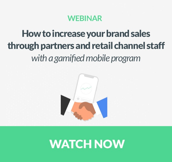 increase - brands - sales - partners - retail - channel - staff - gamified - gamification - mobile - program