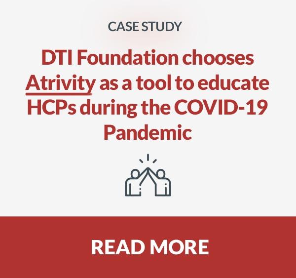 DTI foundation - atrivity - educate - HCPs - COVID19 - pandemic