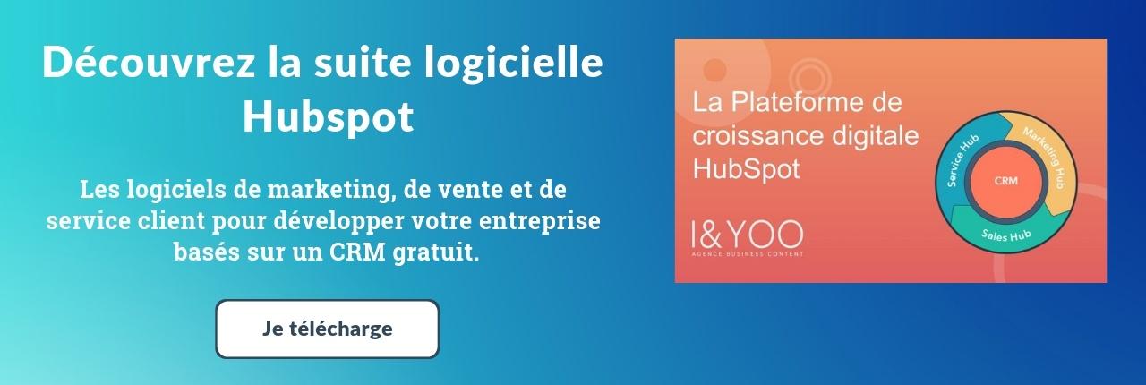 Présentation Hubspot suite logiciels marketing ventes services