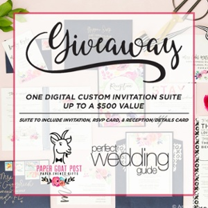 Paper Goat Post Wedding Invitation Giveaway