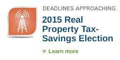real property tax-savings election