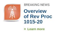 IRS issued Revenue Procedure 2015-20 revising Revenue Procedure 2015-14