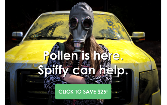 Pollen is coming. Spiffy can help.