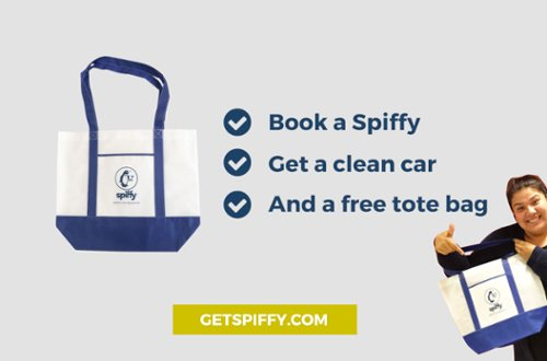 Mother's Day at Spiffy get a free tote bag