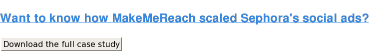 Want to know how MakeMeReach scaled Sephora's social ads? Download the full case study