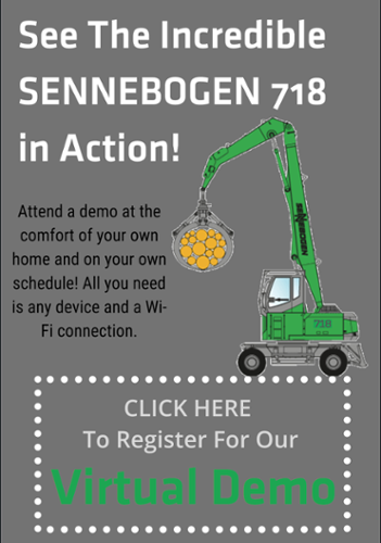 Attend our free SENNEBOGEN 718e virtual demo