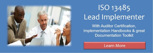ISO 13485 Lead Implementer Training