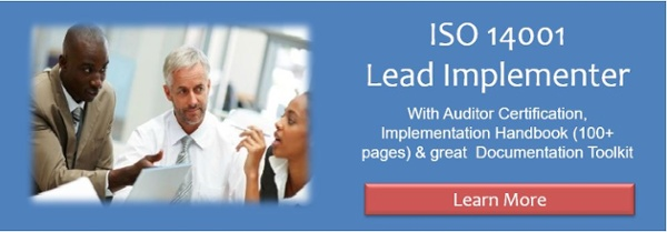 ISO 14001 Lead Implementer training