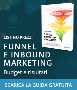 scarica il listino prezzi gratuito del funnel e inbound marketing