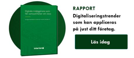 """Ladda ner rapporten """"Digitala möjliggörare som får verksamheter att växa"""" här!"""