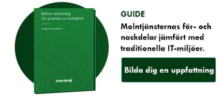 """Ladda ner guiden """"Bättre arbetsdag - on-premise vs molntjänst"""" här!"""