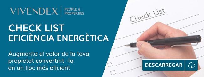 Check list autocomprovació eficiència energètica