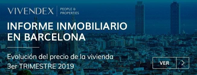 Informe inmobiliario Barcelona tercer trimestre 2019